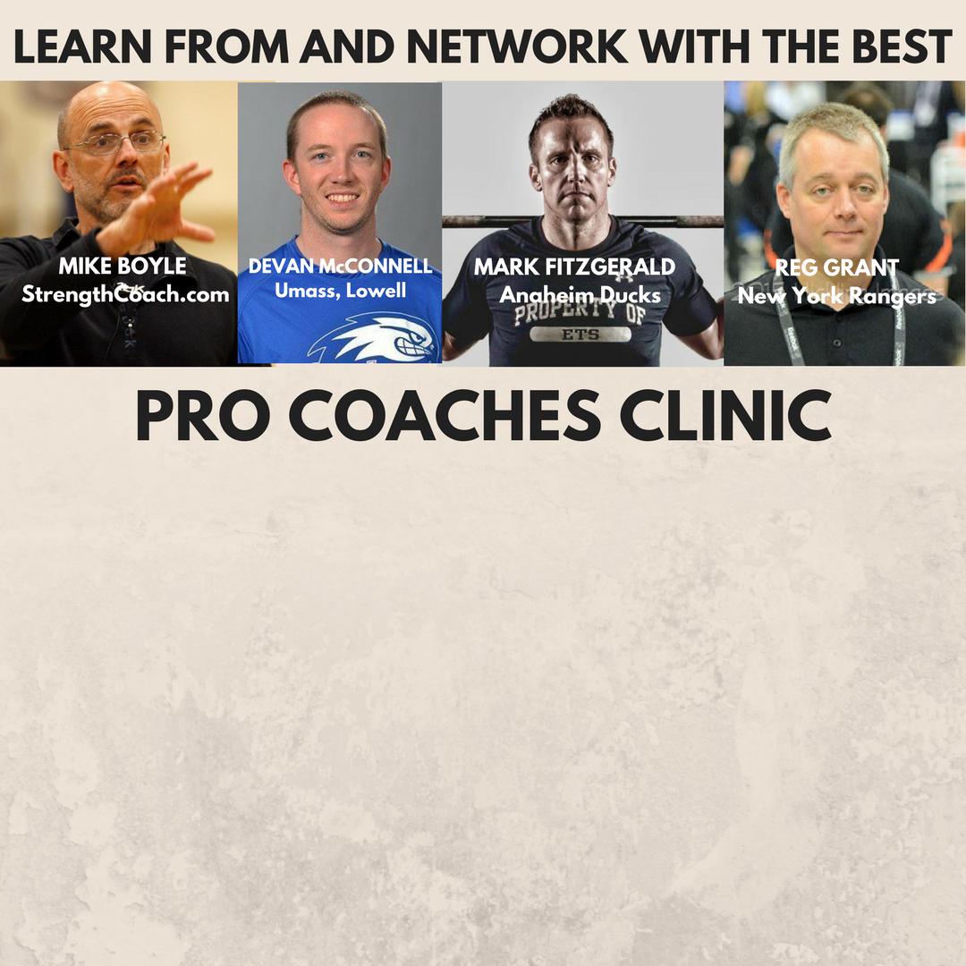 Pro Coaches Clinic- Dec. 20, 2017 4:30 PM New York City